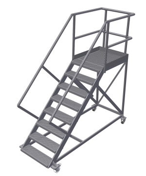 mobile treppen 45 rollen mit bremse das ladders. Black Bedroom Furniture Sets. Home Design Ideas